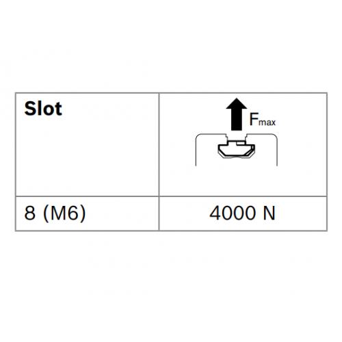 Matice T do drážky - nerez, ESD, 3842536602, N8 M6, (1ks)