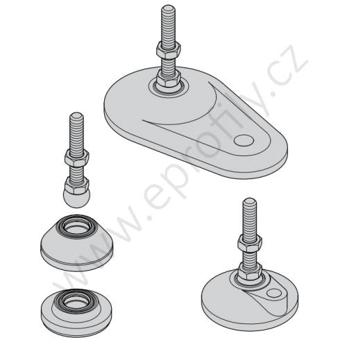 Noha ocelová, ESD, 3842537228, M16x85, (1ks)