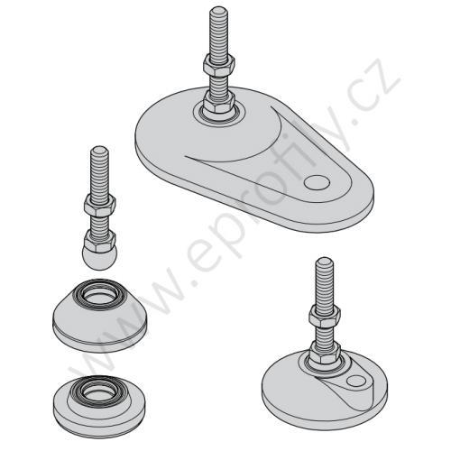 Noha ocelová, ESD, 3842537232, M16x200, (1ks)