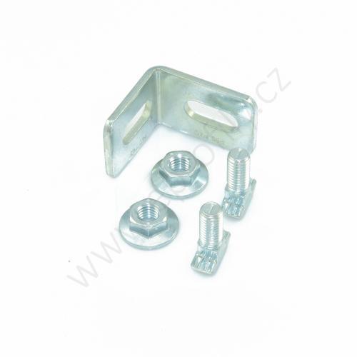 Spojovací úhelník 90° ocelový - SET, ESD, 3842537861, N10/N10, (1ks)