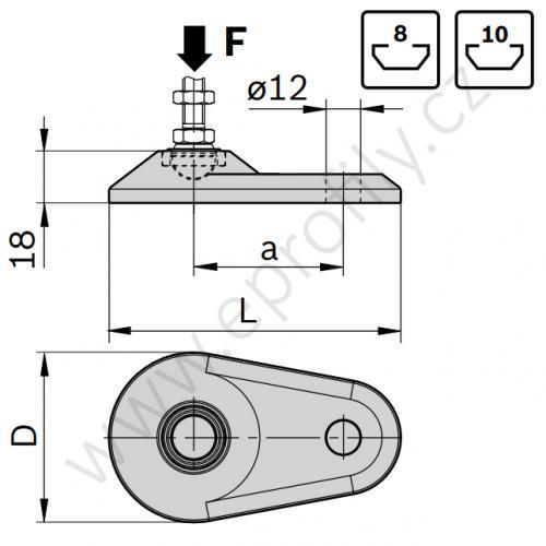 Podložka pozinkovaná, oválná, šroubovací otvor, 3842538680, D79, (1ks)
