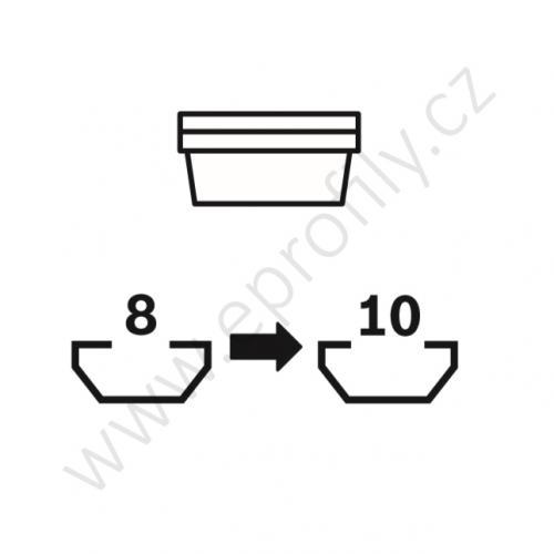 Úhelník 90° vnější pro spojování pod úhlem - SET designLINE, ESD, 3842538703, R28x38; N8/N10, (1ks)