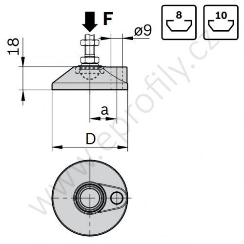 Podložka pozinkovaná, šroubovací otvor, 3842538932, D59, (1ks)