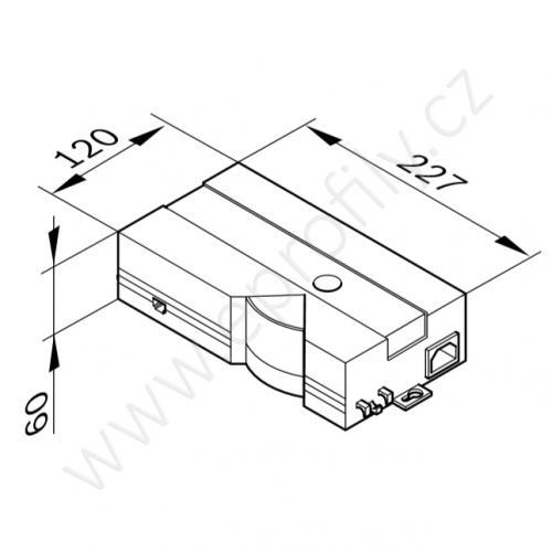 Řídící jednotka, 3842540049, pro 2 moduly, 230 VAC, (1ks)