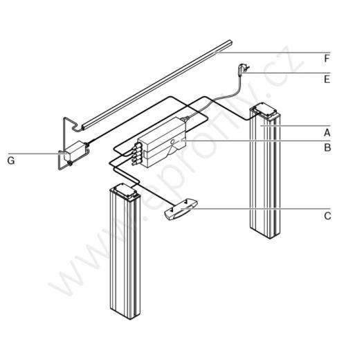 Zdvihací noha (modul), 3842540116, N10, zdvih 410 mm, (1ks)