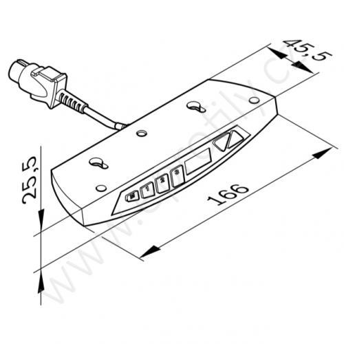 Ruční ovladač s dispejem, 3842540120, pro moduly, (1ks)