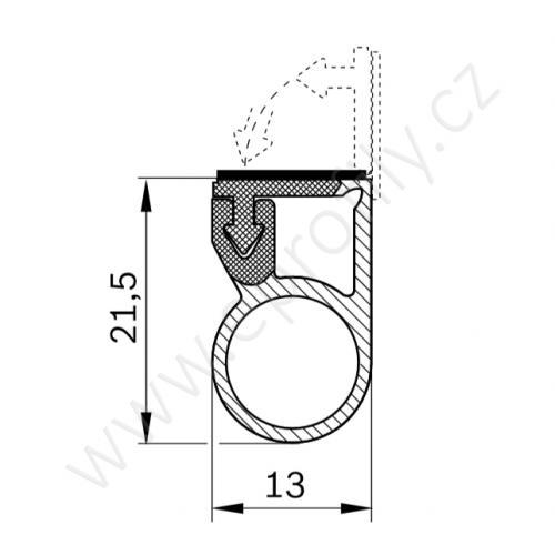 Bezpečnostní lišta, 3842540129, 2000 mm, (1ks)