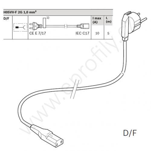 Síťový kabel, 3842540195, D/F, 5000 mm, (1ks)