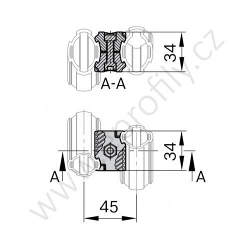 Křížová spojka, ESD, 3842541181, D28, (1ks)