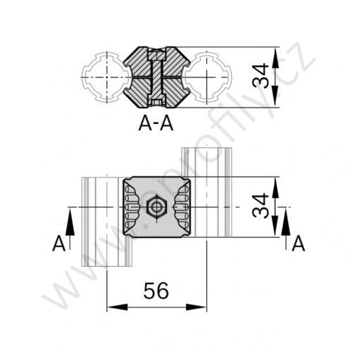 Paralelní spojka, ESD, 3842541183, D28, (1ks)