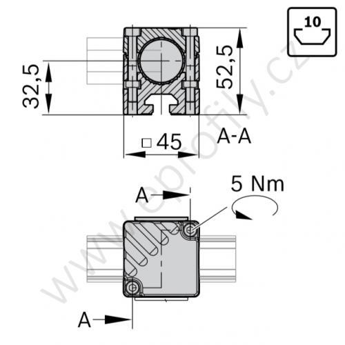 Adaptér, ESD, 3842541187, N10/45; D28L/D28L,N10, (1ks)