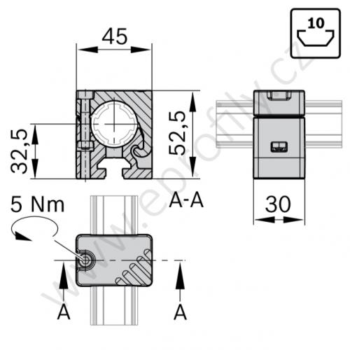 Adaptér, ESD, 3842541190, N10/30; D28L, (1ks)