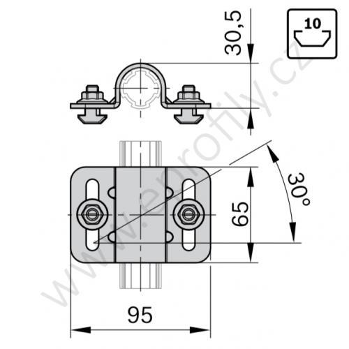 Objímka profilu, ESD, 3842541193, D28L, N10, (1ks)