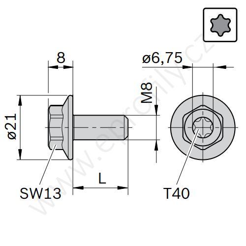 Šroub do kamene, ESD, 3842541409, M8/L20, (1ks)