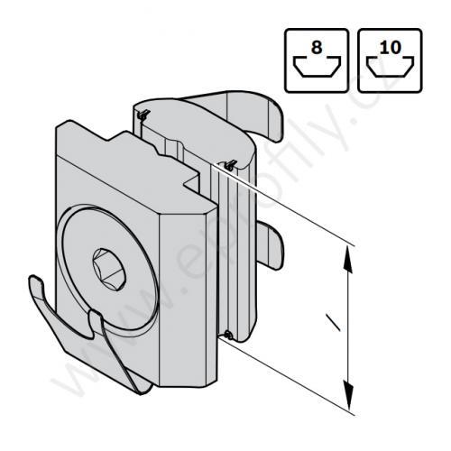 Matice pro paralelní spoj, 3842542737, N8, Balení (100ks)
