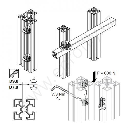 Matice pro paralelní spoj, 3842542737, N8, (1ks)
