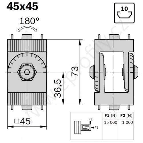 Kloub, ESD, 3842543403, 45x45, (1ks)