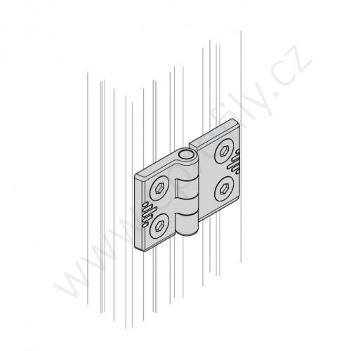 Hliníkový pant, ESD, 3842544526, 20x30, Balení (2ks)