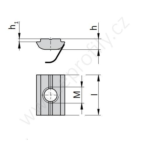 Kámen lehký pro vložení do drážky s pružinou - nerez, ESD, 3842547808, N10 M5, (1ks)