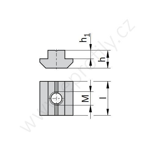 Kámen těžký do drážky - nerez, ESD, 3842547817, N8 M4, (1ks)