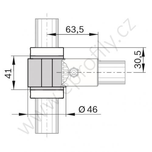 Otočný profil, 3842548121, D28/L34, (1ks)
