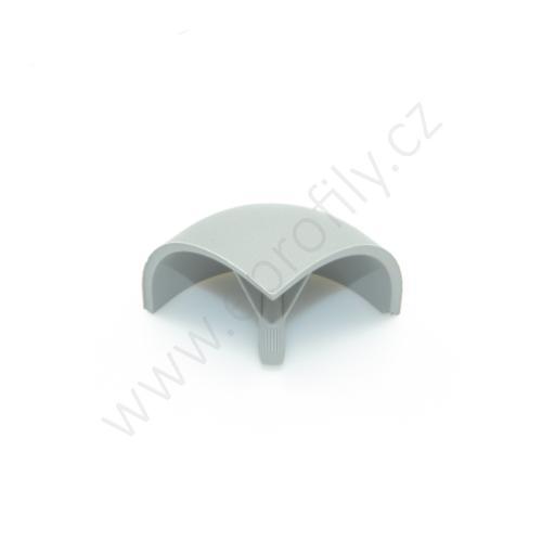 Kulatá krytka rohové spojky, šedá, 3842548709, R30x30, (1ks)