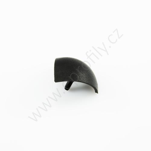 Kulatá krytka rohové spojky, černá, ESD, 3842548713, R30x30, (1ks)