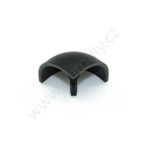 Kulatá krytka rohové spojky, černá, ESD, 3842548715, R45x45, (1ks)