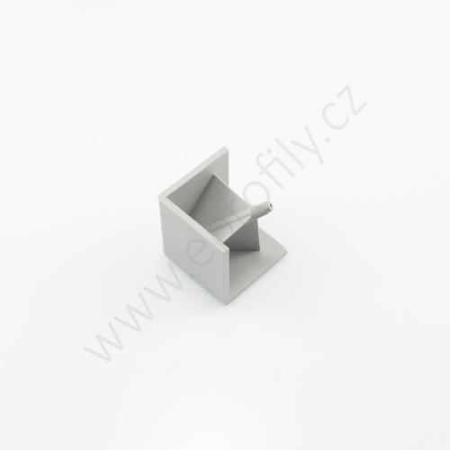 Hranatá krytka rohové spojky, šedá, 3842548716, R20x20, (1ks)