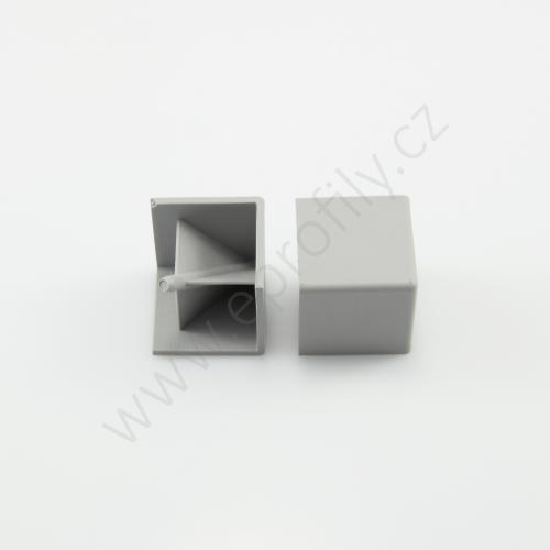 Hranatá krytka rohové spojky, šedá, 3842548717, R30x30, (1ks)