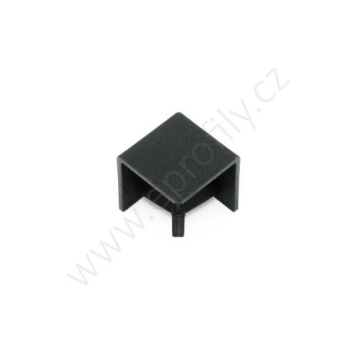 Hranatá krytka rohové spojky, černá, ESD, 3842548720, R20x20, (1ks)