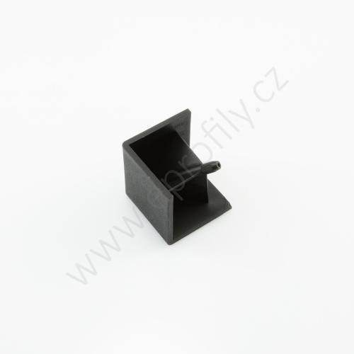 Hranatá krytka rohové spojky, černá, ESD, 3842548723, R45x45, (1ks)
