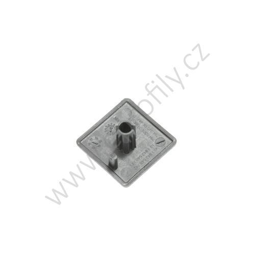 Krytka konce profilu černá plast, ESD, 3842548743, 20x20, Balení (20ks)