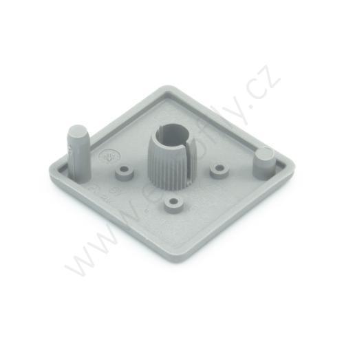 Krytka konce profilu šedá plast, 3842548746, 40x40, Balení (20ks)