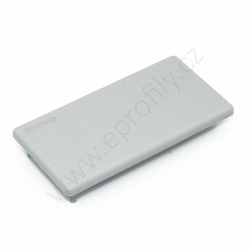 Krytka konce profilu šedá plast, 3842548756, 45x90, (1ks)