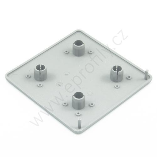 Krytka konce profilu šedá plast, 3842548758, 90x90L, Balení (20ks)