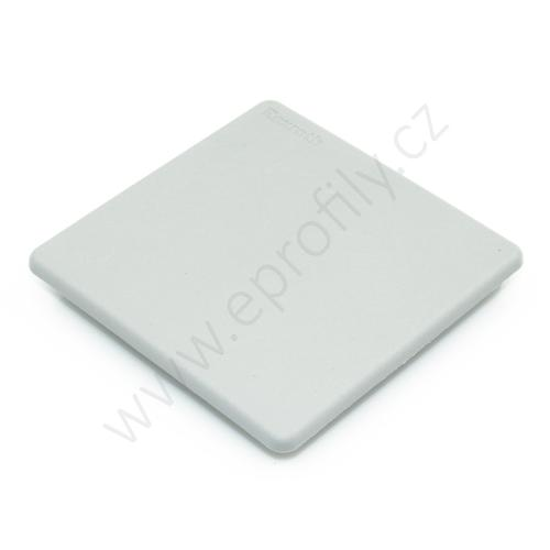 Krytka konce profilu šedá plast, 3842548758, 90x90L, (1ks)