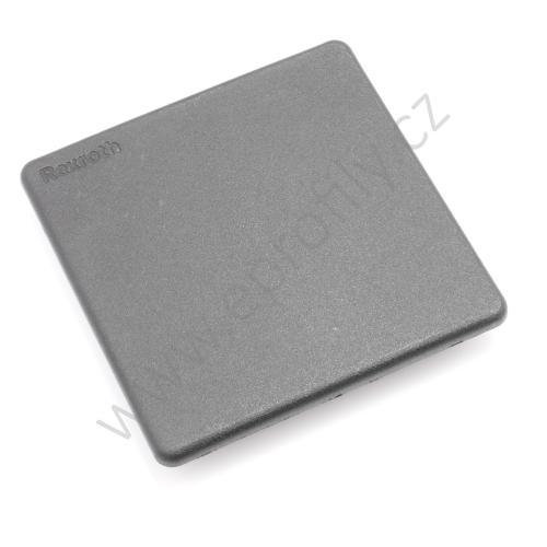 Krytka konce profilu černá plast, ESD, 3842548759, 90x90L, (1ks)