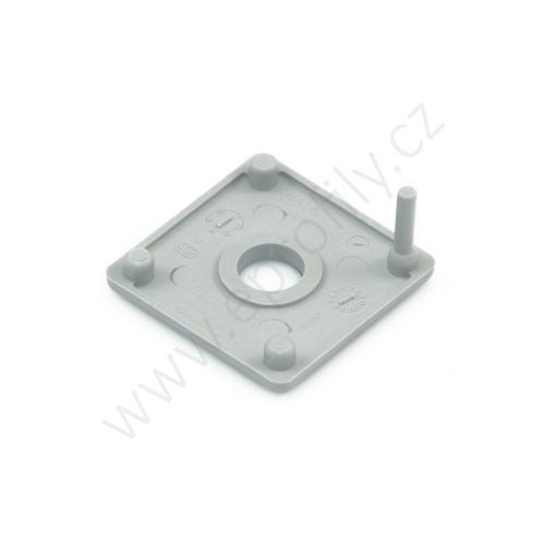 Krytka konce profilu šedá plast, 3842548774, 30x30 s otvorem D8,4, (1ks)