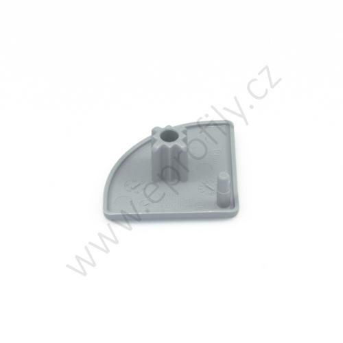 Krytka konce profilu šedá plast, 3842548776, 30x30R, (1ks)