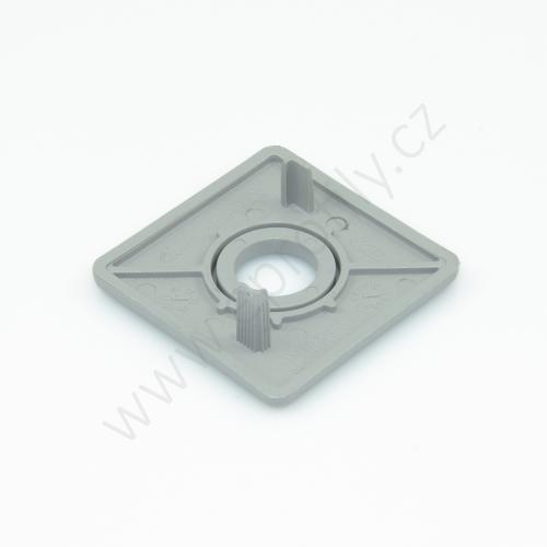 Krytka konce profilu šedá plast, 3842548782, 40x40 s otvorem D12,5, (1ks)