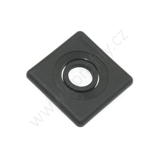 Krytka konce profilu černá plast, ESD, 3842548783, 40x40 s otvorem D12,5, Balení (20ks)