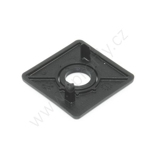 Krytka konce profilu černá plast, ESD, 3842548783, 40x40 s otvorem D12,5, (1ks)