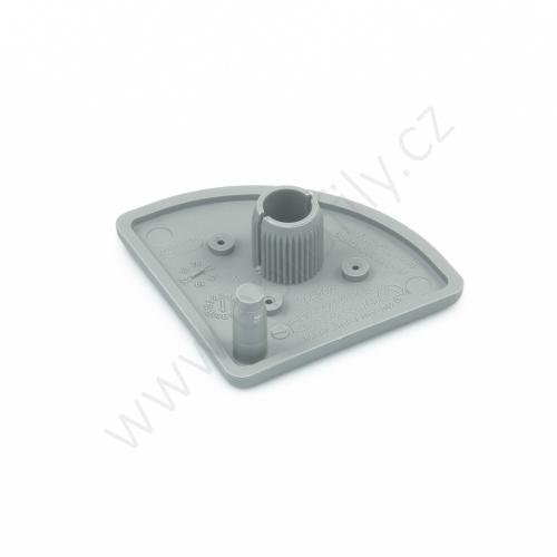 Krytka konce profilu šedá plast, 3842548784, 40x40R, (1ks)