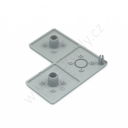 Krytka konce profilu šedá plast, 3842548790, 40x80x80, (1ks)