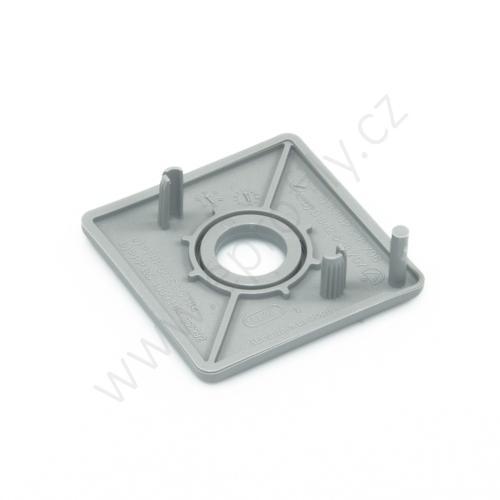 Krytka konce profilu šedá plast, 3842548796, 45x45 s otvorem D12,5/D18, Balení (20ks)