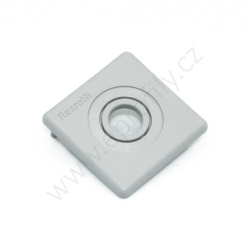 Krytka konce profilu šedá plast, 3842548796, 45x45 s otvorem D12,5/D18, (1ks)