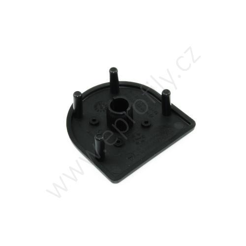 Krytka konce profilu černá plast, ESD, 3842548799, 45x45HR, (1ks)