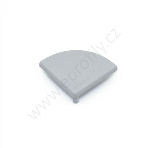 Krytka konce profilu šedá plast, 3842548800, 45x45R, (1ks)