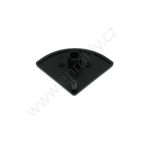 Krytka konce profilu černá plast, ESD, 3842548801, 45x45R, (1ks)